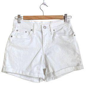 LEVI'S STRAUSS Mid Length Short White Denim Short